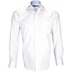 Vêtements Homme Chemises manches longues Emporio Balzani chemise double fil 120/2 pasoli blanc Blanc