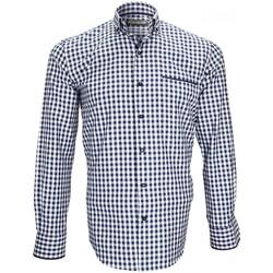 Vêtements Homme Chemises manches longues Emporio Balzani chemise sport mantova bleu Bleu