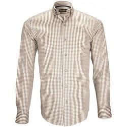 Vêtements Homme Chemises manches longues Emporio Balzani chemise vichy manolo beige Beige