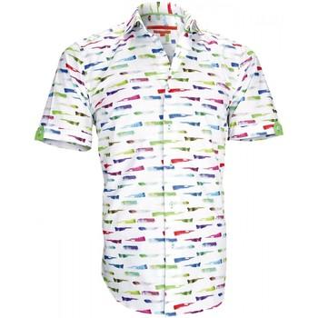 Vêtements Homme Chemises manches longues Andrew Mc Allister chemisettes mode paint blanc Blanc