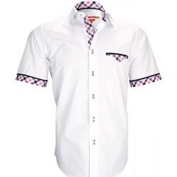 Vêtements Homme Chemises manches courtes Andrew Mc Allister chemisette mode wight blanc Blanc