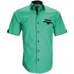 Vêtements Homme Chemises manches courtes Emporio Balzani chemisette mode tascoli vert Vert