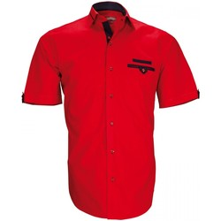 Vêtements Homme Chemises manches courtes Emporio Balzani chemisettes mode tascoli rouge Rouge