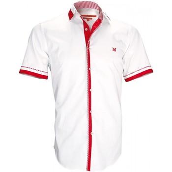 Vêtements Homme Chemises manches courtes Andrew Mc Allister chemisette bi-matiere sheffield blanc Blanc