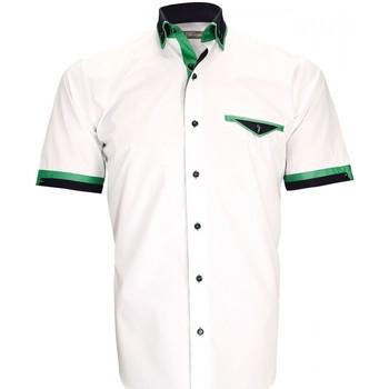 Vêtements Homme Chemises manches courtes Emporio Balzani chemisette repassage facile pistoia blanc Blanc