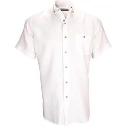 Vêtements Homme Chemises manches courtes Emporio Balzani chemisette en lin san remo blanc Blanc