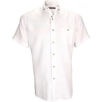Chemise Emporio Balzani chemisettes 100% lin san remo blanc