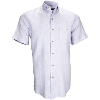 Vêtements Homme Chemises manches courtes Emporio Balzani chemisette en lin san remo bleu Bleu