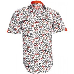 Vêtements Homme Chemises manches courtes Andrew Mc Allister chemisettes mode butterfly blanc Blanc