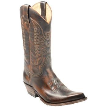 Chaussures Homme Bottes ville Sendra boots santiags homme ref_sen34032 Marron