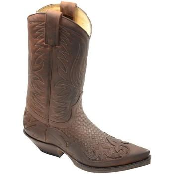 Chaussures Homme Bottes ville Sendra boots Botte homme ref_sen34034 Marron