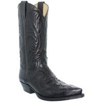 Chaussures Bottes ville Sendra boots Santiags homme ref_sen34332-noir Noir