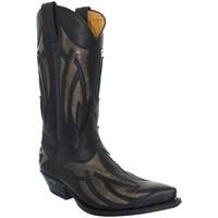 Chaussures Homme Bottes ville Sendra boots Santiags  en cuir ref_sen26372 Noir