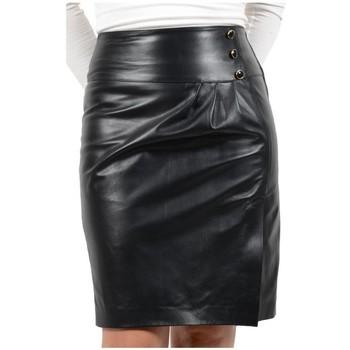 Vêtements Femme Jupes Pallas Cuir Jupe en cuir ref_sks33312 noir