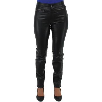 Vêtements Femme Chinos / Carrots Pallas Cuir Pantalon  sélection en cuir ref_sof40265-noir noir