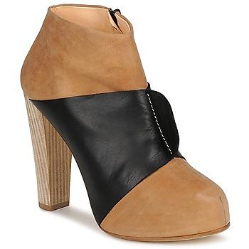 Chaussures Femme Bottines Terhi Polkki EINY Beige / Noir