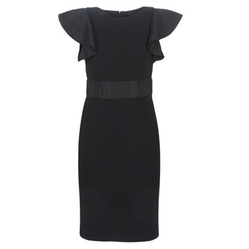 Vêtements Femme Robes courtes Lauren Ralph Lauren JERSEY SLEEVELESS COCKTAIL DRESS Noir