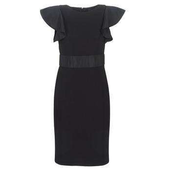 Vêtements Femme Robes courtes Button-trim Crepe Dress JERSEY SLEEVELESS COCKTAIL DRESS Noir