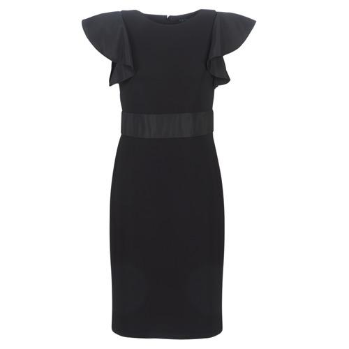 Vêtements Femme Robes courtes Lauren Ralph Lauren JERSEY SLEEVELESS COCKTAIL DRESS Noir