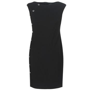 Vêtements Femme Robes courtes Button-trim Crepe Dress BUTTON-TRIM CREPE DRESS Noir