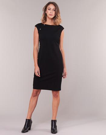Lauren Ralph Lauren BUTTON-TRIM CREPE DRESS