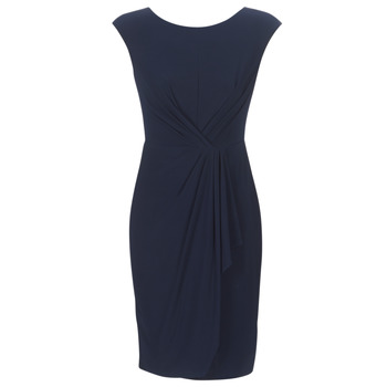 Vêtements Femme Robes courtes Lauren Ralph Lauren RUCHED CAP SLEEVE DRESS Marine