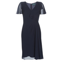 Vêtements Femme Robes longues Lauren Ralph Lauren CUTLER CAP SLEEVE DAY DRESS Marine