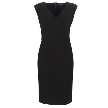 Vêtements Femme Robes longues Lauren Ralph Lauren BLACK CAP SLEEVE DAY DRESS Noir
