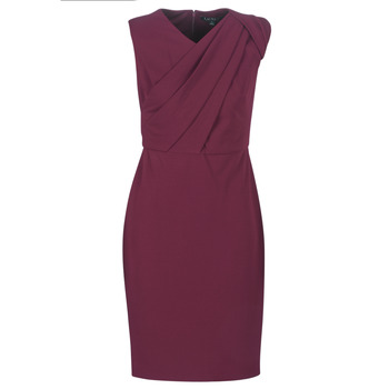 Vêtements Femme Robes longues Lauren Ralph Lauren RUBY SLEEVELESS DAY DRESS Bordeaux