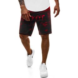 Vêtements Homme Shorts / Bermudas Monsieurmode Bermuda imprimé homme Bermuda M120 rouge Rouge