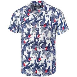 Vêtements Homme Chemises manches courtes Carisma Chemisette homme hawaïenne Chemisette 9104 blanc Blanc