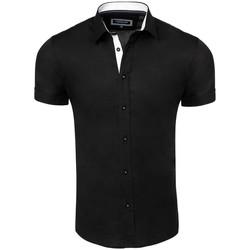 Vêtements Homme Chemises manches courtes Carisma Chemisette homme fashion Chemisette 9102 noir Noir
