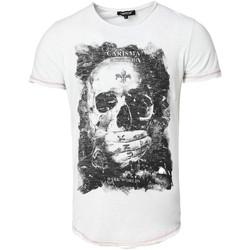 Vêtements Homme T-shirts manches courtes Carisma T-shirt imprimé tête de mort T-shirt 4575 blanc Blanc