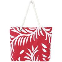 Sacs Femme Cabas / Sacs shopping Baisers Salés Sac de plage coton Licia rouge