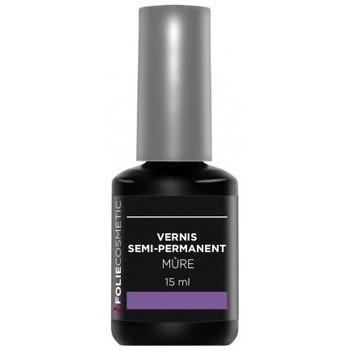 Beauté Femme Vernis à ongles Folie Cosmetic Vernis Semi permanent   Mûre   15ml Violet