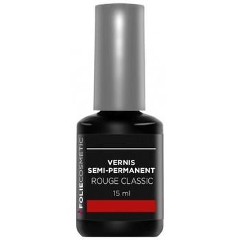 Beauté Femme Vernis à ongles Folie Cosmetic Vernis Semi permanent  Rouge Classic   15ml Rouge