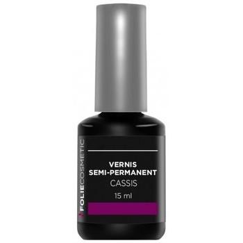 Beauté Femme Vernis à ongles Folie Cosmetic Vernis Semi permanent  Cassis   15g Violet