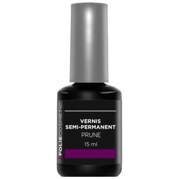 Beauté Femme Vernis à ongles Folie Cosmetic Vernis Semi permanent  Prune   15ml Violet