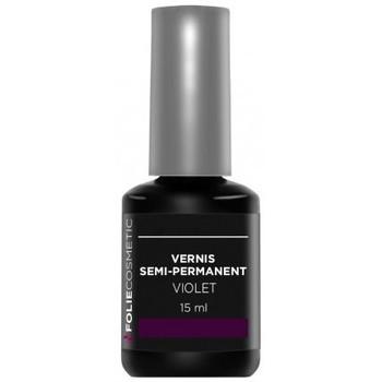 Beauté Femme Vernis à ongles Folie Cosmetic Vernis Semi permanent  Violet   15ml Violet