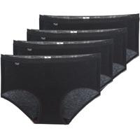 Sous-vêtements Femme Culottes & slips Sloggi BASIC+ X 4 Noir