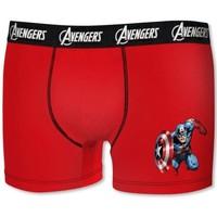 Sous-vêtements Garçon Boxers Dessins Animés BCASS2 rouge