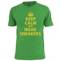 T-shirts manches courtes Mister Tee T-shirt MISTER Vert Keep Calm