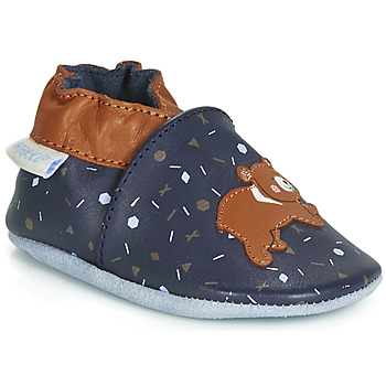 Chaussures Enfant Chaussons Robeez GAME RUN Marine / Marron