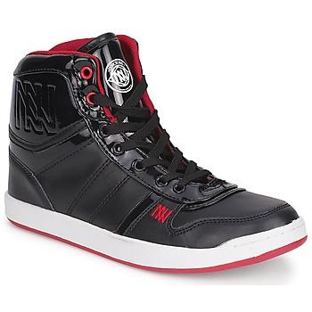Chaussures Femme Baskets montantes Dorotennis BASKET CUIR NAPPA PU VERN Noir