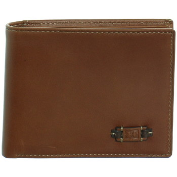 Sacs Homme Portefeuilles David William Portefeuille  en cuir ref_46258 Marron 12*10*2 marron