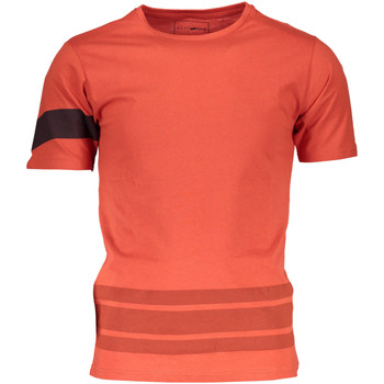 Vêtements Homme T-shirts manches courtes Gas GATS01STRIPES AB30 MANDARINE À L'ORANGE