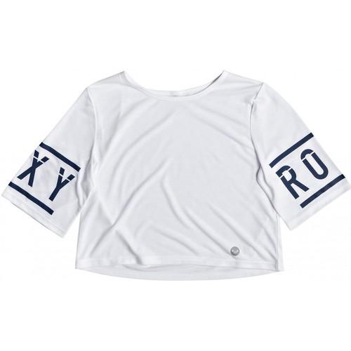 Vêtements Fille T-shirts manches courtes Roxy T-shirt crop top Rockin on the Moon Blanc