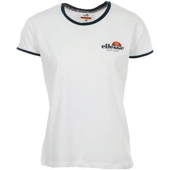 Vêtements Femme T-shirts manches courtes Ellesse EH F TMC COL ROND UNI BLANC