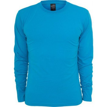 Vêtements Homme T-shirts manches longues Urban Classics T-shirt manches longues col rond slim Turquoise