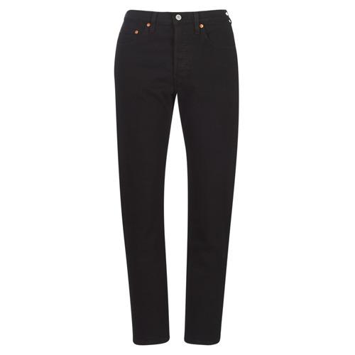 Vêtements Femme Jeans boyfriend Levi's 501 CROP Black heart